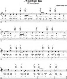o christmas tree ukulele chords sheet music tab lyrics