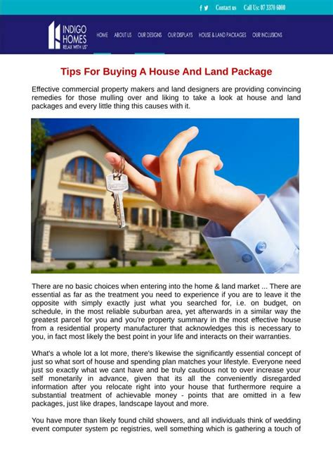 buying house and land packages ppt tips for buying a house and land package powerpoint presentation id 7298736