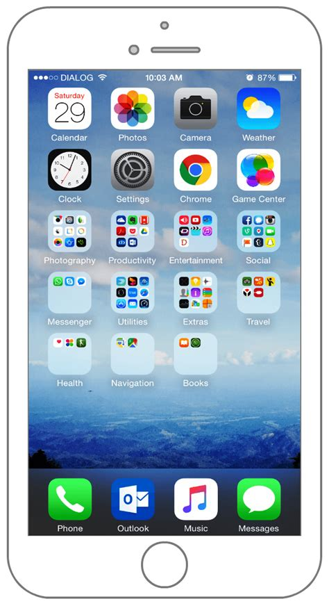 best iphone home screen 28 images my iphone 6 plus