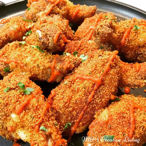 oven baked breaded chicken wings