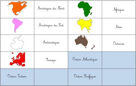 montessori printable continents les montessouris globe et planisph 232 re montessori