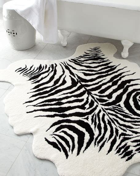 zebra print bathroom ideas quot kenya quot bath rug