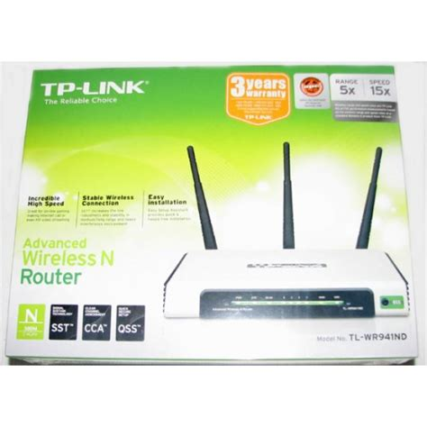 Wireless Router Tp Link Tl Wr941nd tp link tl wr941nd 300m wireless n router 3 detachable antennas 3t3r atheros 2 4ghz 802 11n