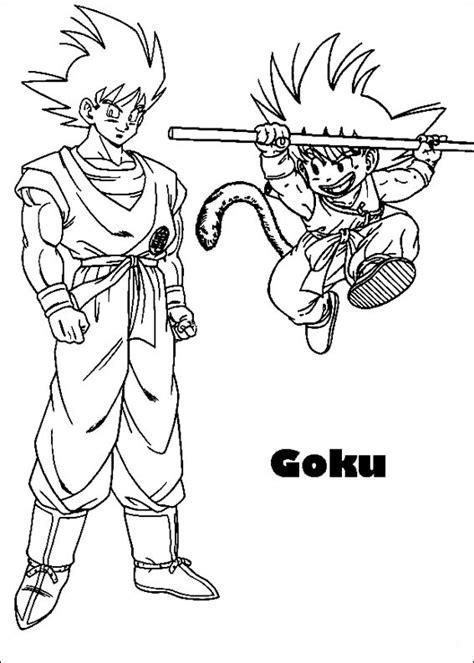 imagenes de goku a color para imprimir dibujos para colorear de dragon ball z
