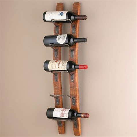 barrel stave wall wine rack midcentury wine racks by wine enthusiast companies