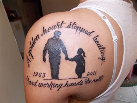 in memory of dad tattoos for daughters 39 remembrance tattoos for