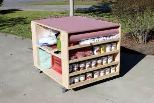 work bench diy diy portable workbench with storage free plans