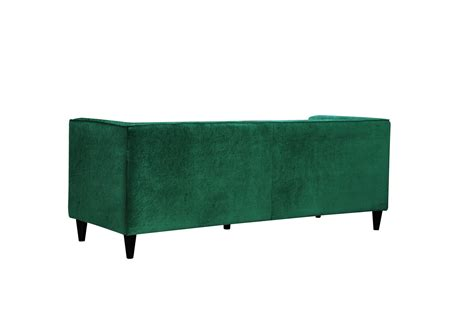 green velvet tufted sofa brycen contemporary green velvet sofa loveseat w button