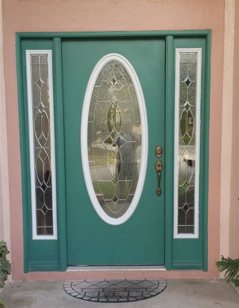 Oval Glass Insert For Front Door Transformation Tuesday Replacing Door Glass Inserts