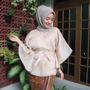Atasan Kebaya Organza Terbaru Putih 48 model baju kebaya muslim modern dan anggun klubwanita