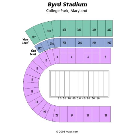 seating charts maryland terrapins athletics university maryland terrapins football vs uconn huskies football