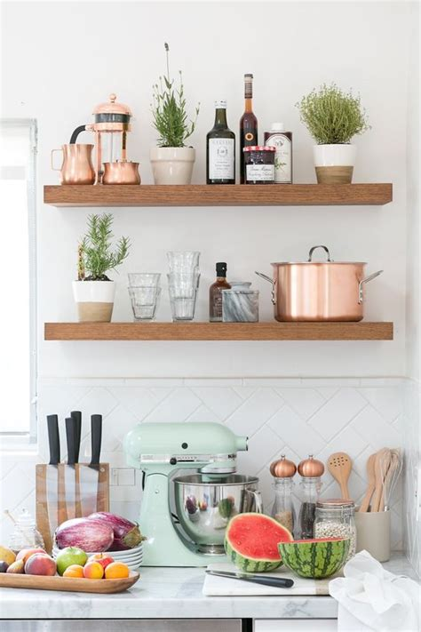 Floating Cabinets Ikea remodelaholic mint and copper kitchen inspiration