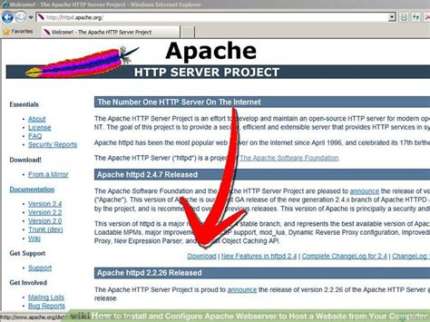 installing xp apache as service how to install and configure apache webserver to host a