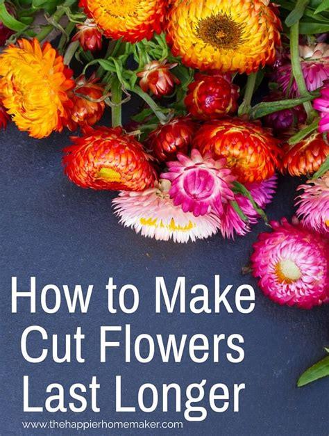 how to make cut flowers last longer the happier homemaker