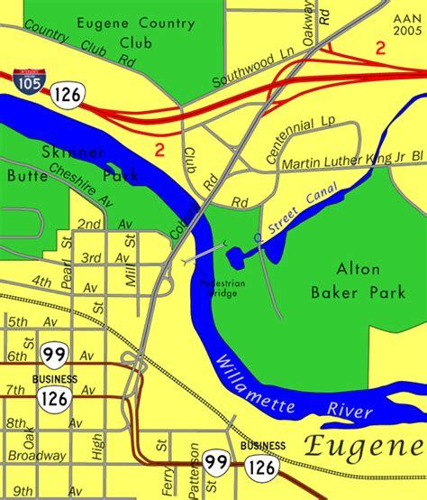 eugene oregon on map oregon aaroads coburg road eugene