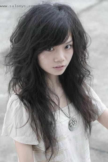 asian curly hairstyles