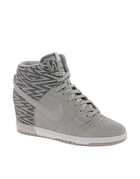 Sneakers Wedges Nike Sky High Dunk Grade Ori nike nike dunk sky hi print taupe wedge trainers