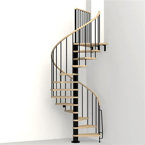 shop arke phoenix 47 in x 10 ft black spiral staircase kit at lowes com