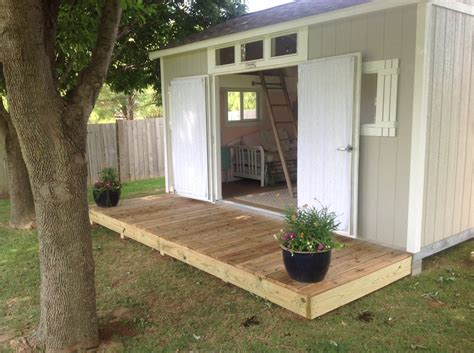 shabby chic meets  backyard shed tuff shed