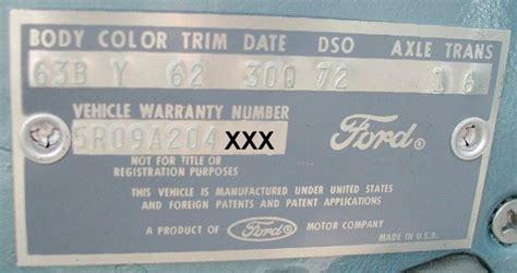 1965 mustang data plate decoder 1973 ford 11 digit vin number decoder autos post