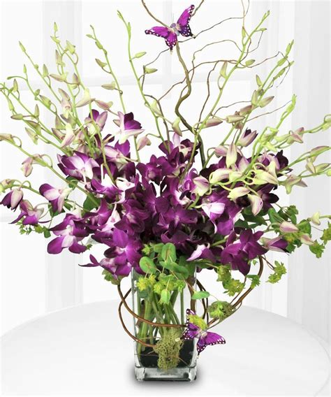 best flower arrangements mom purple orchids