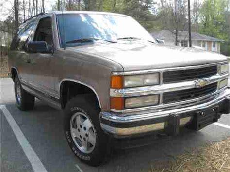 1994 Chevy Tahoe 2 Door by Sell Used 1994 Chevrolet Blazer 2 Door 4x4 Tahoe
