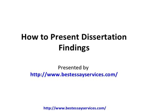 how to write findings in a dissertation how to present dissertation findings