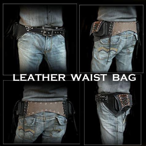 Waist Bag 1433 By Shop Id 楽天市場 レザーウエストバッグ ヒップバッグ 本革 レザー ブラック ユニセックス leather travel