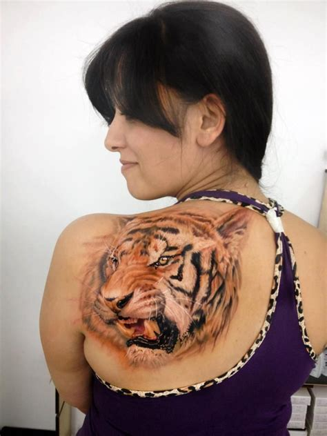 full body tattoo tiger see more realistic tiger face tattoos on back back