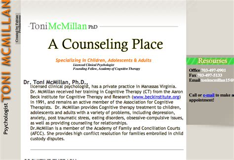 A Place Counseling A Counseling Place Website 2008 Zac Fabian Productions