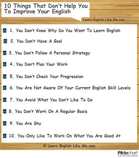 10 things that don t help you to improve your