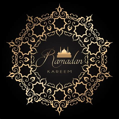 ramadan pattern vector free elegant ramadan background with golden and black design