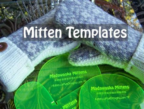 mitten pattern templates    mittens  upcycled