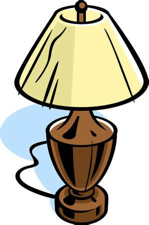 stock illustration drawing of a table lamp