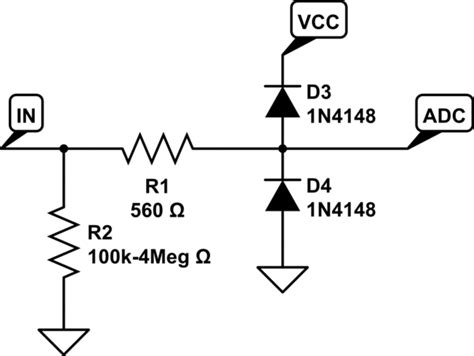 adc protection diode circuit protection for the adc input electrical