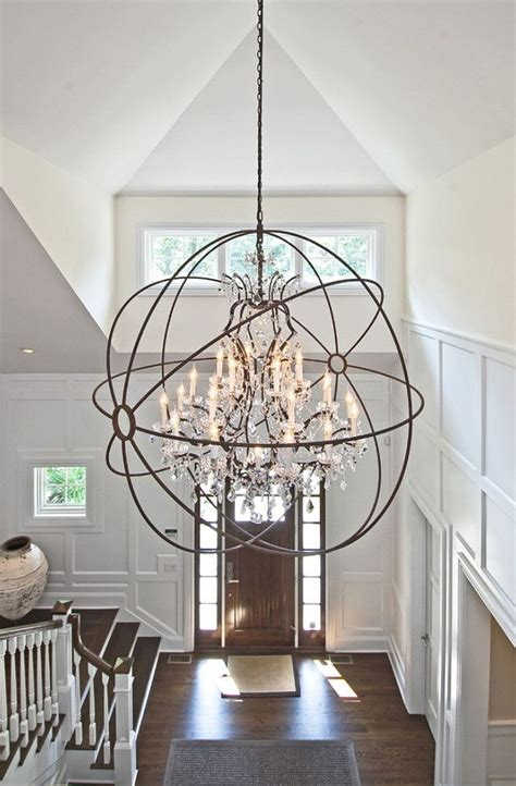 Large Foyer Chandeliers Foyer Lighting Ideas Light Is From Restoration Hardware Foucault Foyer Foyerlighting Eb