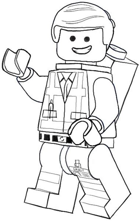 lego coloring pages lego movie emmet the ordinary guy from lego movie coloring pages