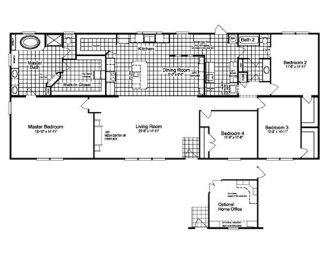 palm harbor mobile homes floor plans the canyon bay ii hht476a5 or ft32764c home floor plan