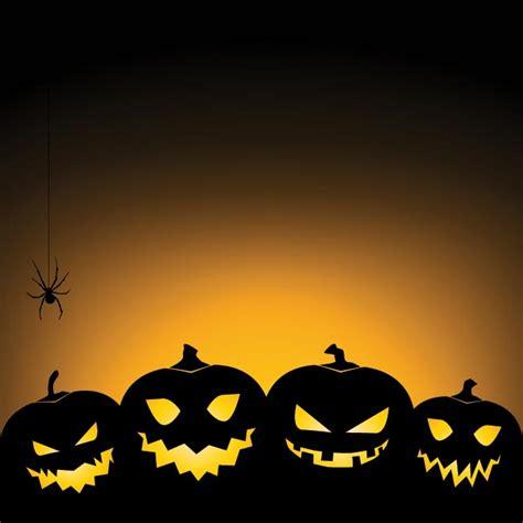 vector pumpkin set with spider glowing happy halloween