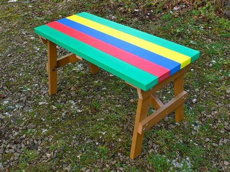 childrens bench table thames child s multicoloured outdoor garden table