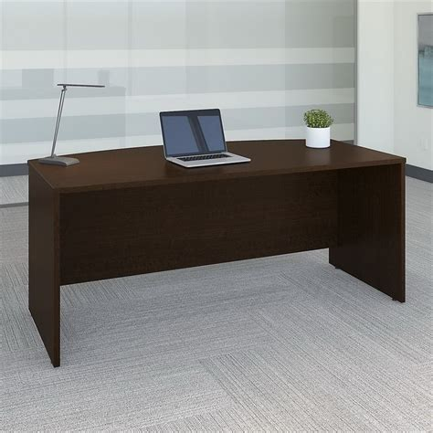 bush business furniture series   bow front desk shell mocha cherry wc