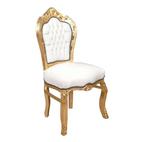 chaises baroque chaise baroque banche et or canap 233 baroque