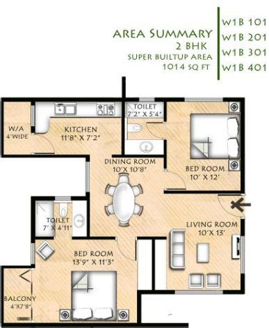 the petals floor plan 1014 sq ft 2 bhk 2t apartment for sale in infrany petals