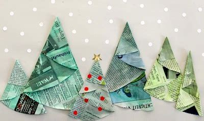 Folding Paper Trees - things to make and do crafts and activities for