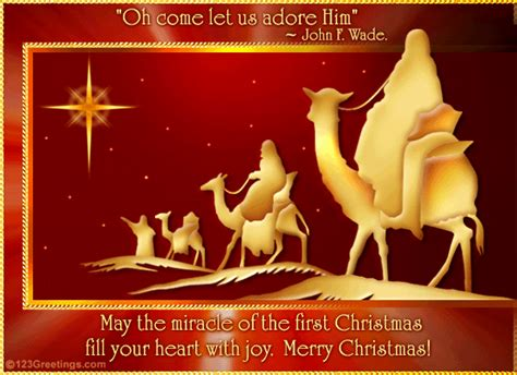 miracle  christmas  religious blessings ecards greeting cards
