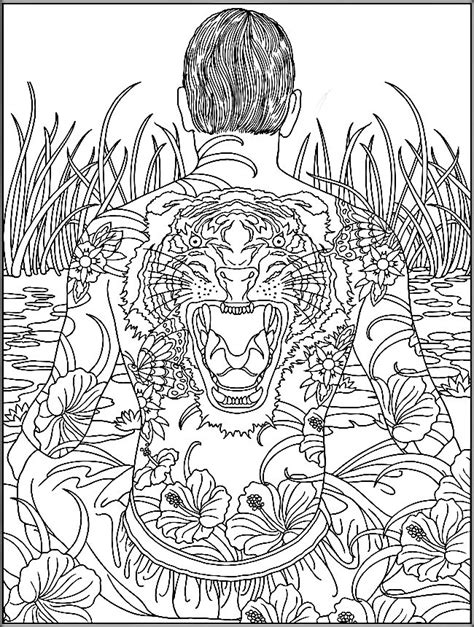 trippy elephant coloring pages printable trippy coloring pages for adults color zini