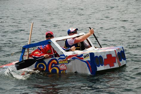 cardboard boat race white lake mi cardboard races oakland county lakefront home for sale