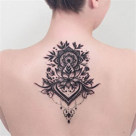 mandala tattoo back best 25 back tattoos ideas on best