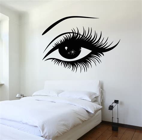 Wall Stickers For Bedroom vinyl decal wall decal woman s eyes sexy girl bedroom