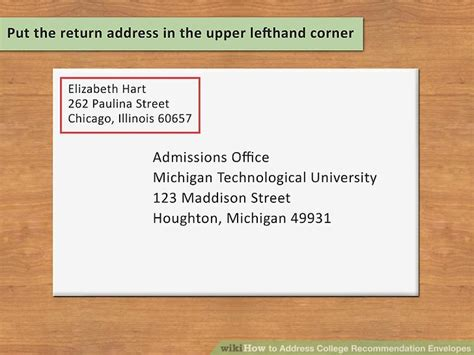 how to put an address on a letter how to address college recommendation envelopes 12 steps